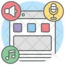 Music Blog Music File Music Content Icon