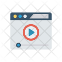 Browser Video Player Icon