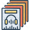 Music Collection Accumulation Stockpiling Icon