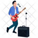 Music Concert Rock Star Guitar Player Icon