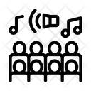 Human Silhouettes Singing Icon