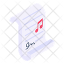 Music File Music Document Music Contract Icon