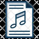 Music File Music Document Track File Icon