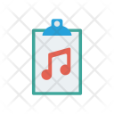 Music Melody Clipboard Icon
