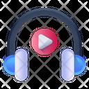 Media Headphones Music Headphones Listen Music Icon