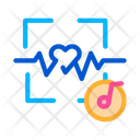 Music Heart Rate Icon