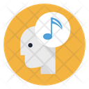 Music In Mind Music Tone Head Icon