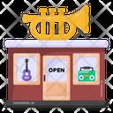 Music Shop Music Instruments Store Music Studio Icon
