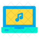 Laptop Music Listening Music Icon