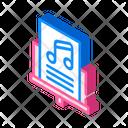 Music Lesson Isometric Icon