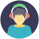 Music Boy Headphone Icon