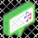 Media Message Music Message Music Conversation Icon