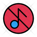 Music Not Allowed No Music No Sound Icon