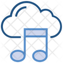 Cloud Storage Music Note Icon