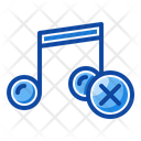 Filled Line Mute Silent Icon