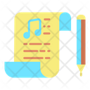 Imusic Note Pad Music Script Song Script Icon