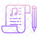 Imusic Note Pad Music Script Song Script Icon