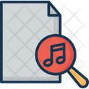 Music Search Music File Magnifier Icon