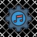 Setting Music Gear Icon