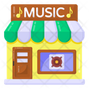 Music Shop Building Music Store Music Studio Icon