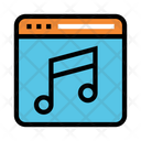 Webpage Online Music Icon