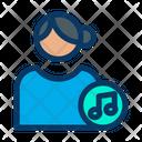 Music User Music Profile Female Profile Icon