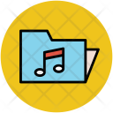 Musical Folder Sound Icon