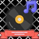 Musical Ribbon Musical Disc Musical Cd Icon