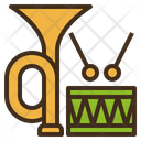 Musical Trumpet Drum Icon