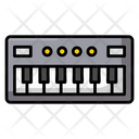 Piano Electrical Instrument Keyboard Synthesizer Icon
