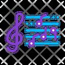 Treble Clef Musical Icon