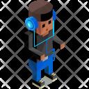 Musician Headphones Man Icon