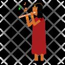 Woman Celebrate Hindu Icon