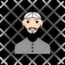 Muslim Man Beard Icon