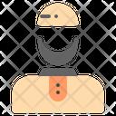 Moslem Avatar Beard Icon
