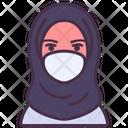 Doctor Hijab Coronavirus Icon