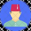 Muslim Man Sheikh Arabic Icon