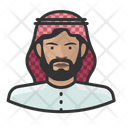 Muslim Man Avatar User Icon