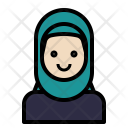 Muslim Woman Hijab Icon
