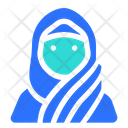 Muslim Woman Stylish Hijab Icon