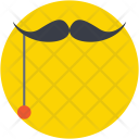 Hipster Moustache Party Icon
