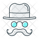 Mustache Hat Optimization Icon
