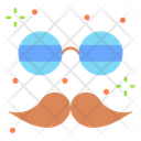 Mustache Glasses Hipster Icon