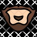Mustache Whisker Hair Icon