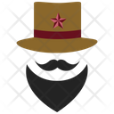 Mustache and top hat Icon