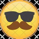 Mustache cool Icon