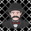 Mustache Inspector Hat Mustache Icon