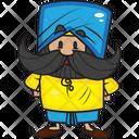 Mustache Man Man Punjabi Man Icon