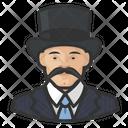 Mustache Man Tophat Mustache Icon