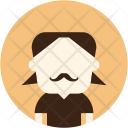 Mustache Man Avatar Icon